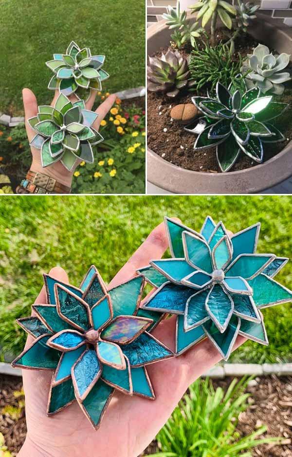 diy plantes succulentes en verre pour vitrail