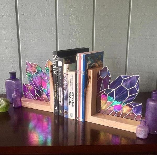 diy serre-livres en verre pour vitrail