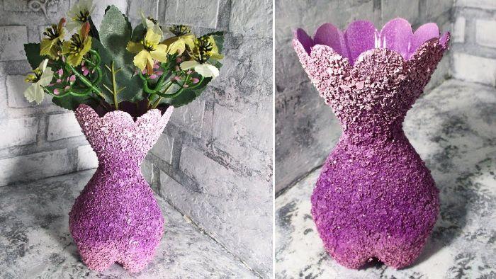 diy vase recyclage bouteille plastique