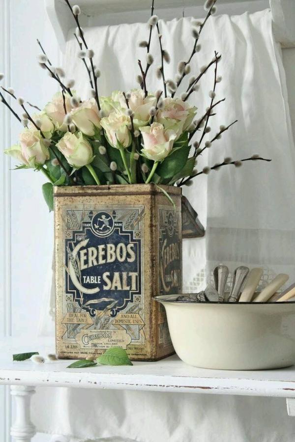 fabriquer un pot de fleurs boîte en tôle