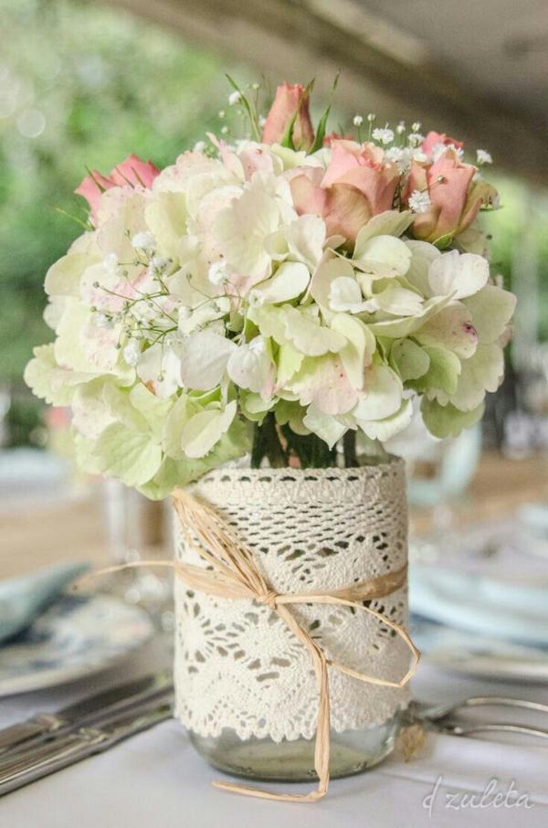 fabriquer un pot de fleurs bocal décoré