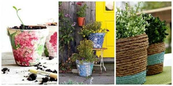 fabriquer un pot de fleurs dessiner les pots