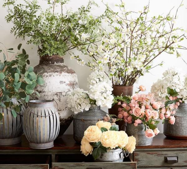 fabriquer un pot de fleurs en style shabby