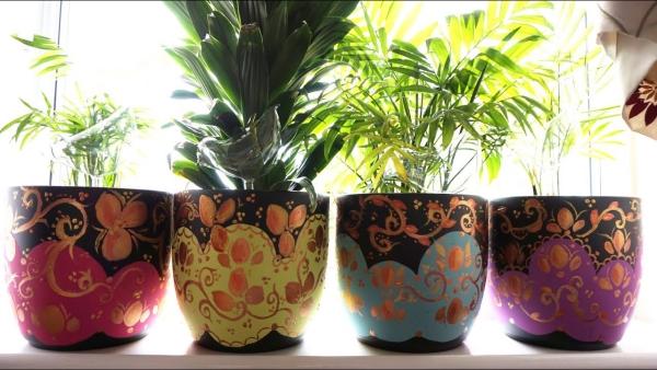 fabriquer un pot de fleurs jardinières exquises