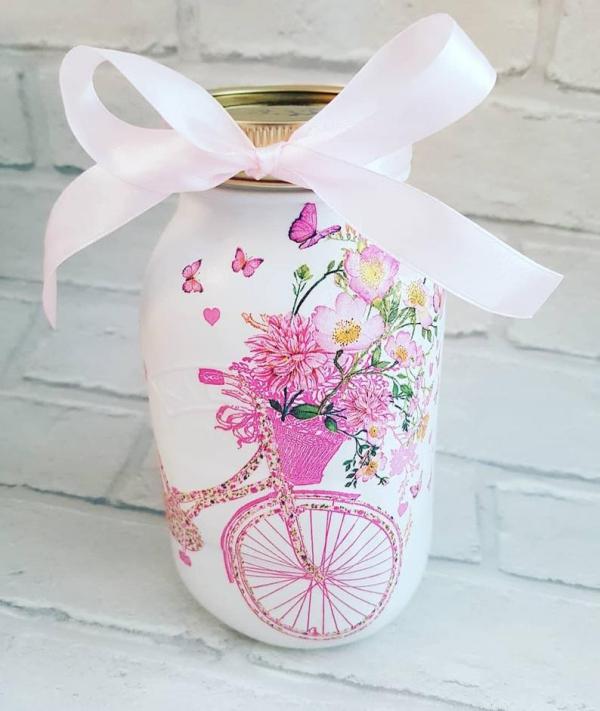 fabriquer un pot de fleurs joli bocal vintage