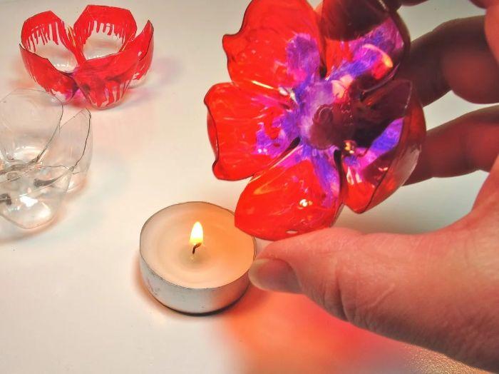 fleur en plastique comment fabriquer recyclage bouteille plastique