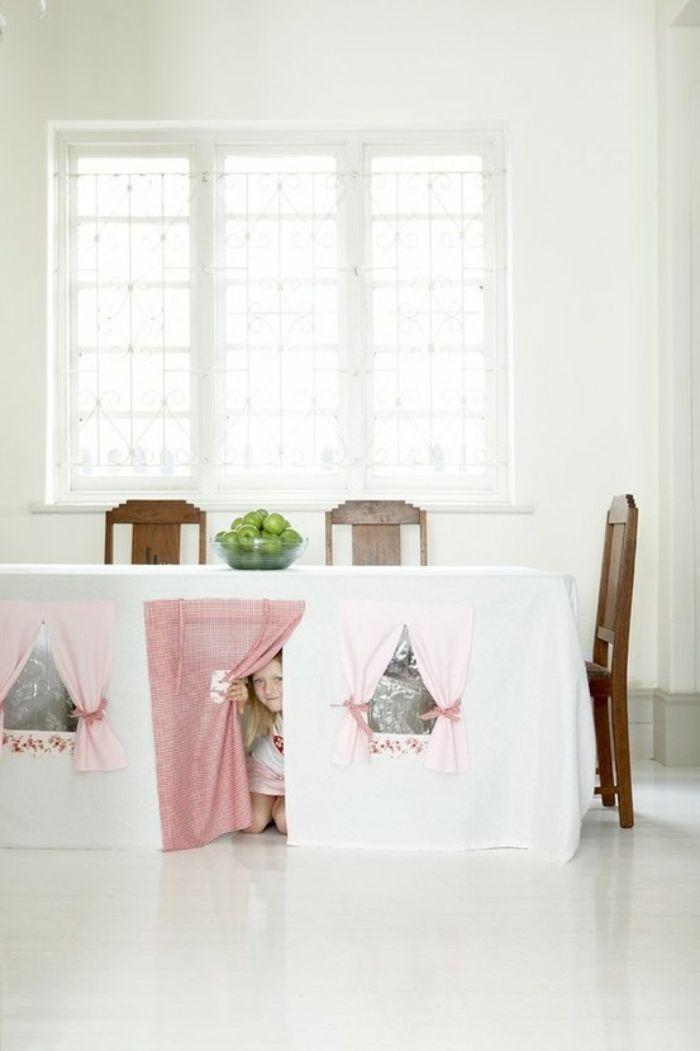idée facile à réaliser cabane intérieur enfant