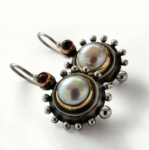 joaillerie éthique pendentif en or et perles
