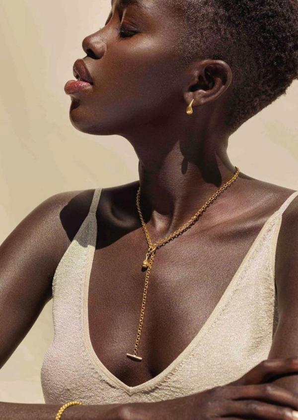 joaillerie éthique tendance boucles d'oreilles et collier soko