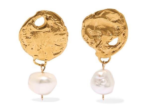 joaillerie éthique tendance boucles d'oreilles perles et plaqué or