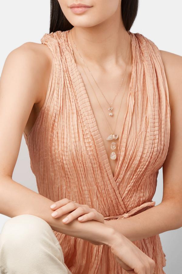 joaillerie éthique tendance collier en or et diamants synthétiques