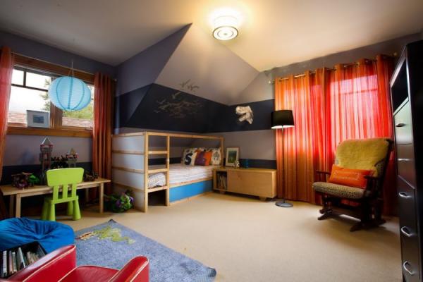 lit enfant mezzanine dans une niche