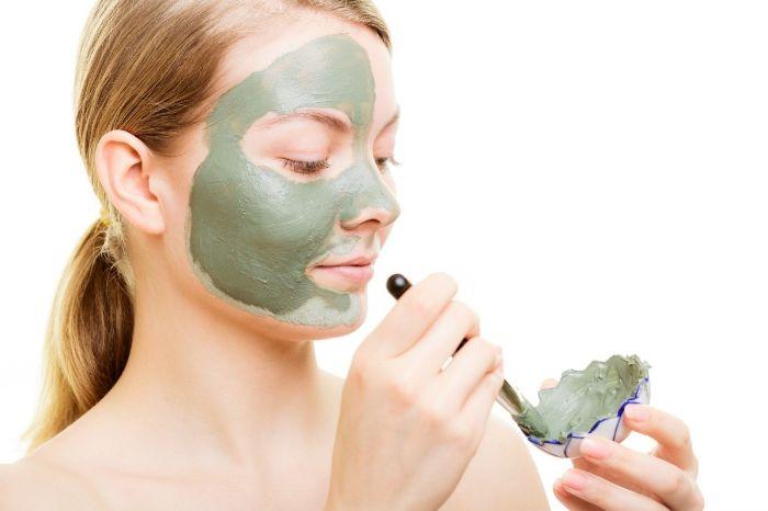 masque visage en argile verte