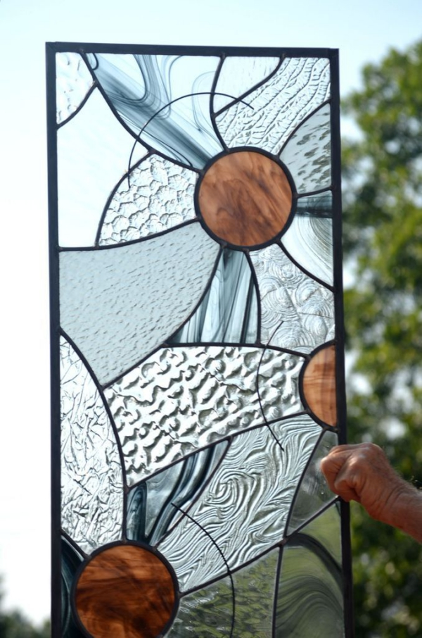 panneau fait en verre pour vitrail