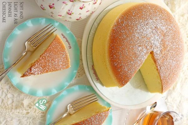 préparer le cheesecake japonais