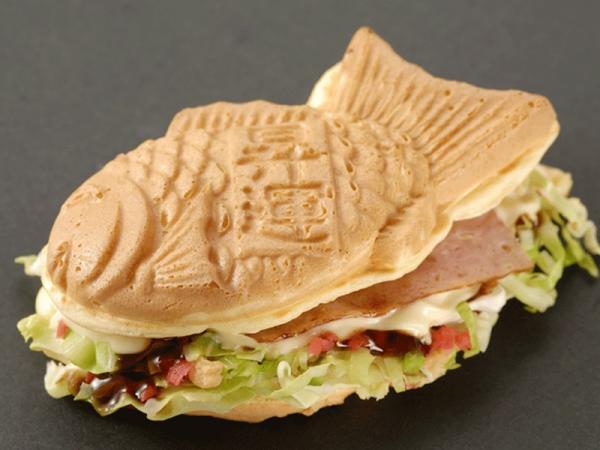 préparer les gaufres japonaises taiyaki sandwich