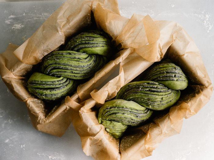 recette babka au thé vert matcha
