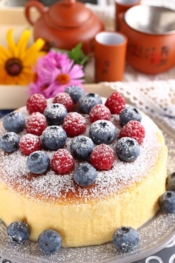 recette cheesecake japonais aux baies
