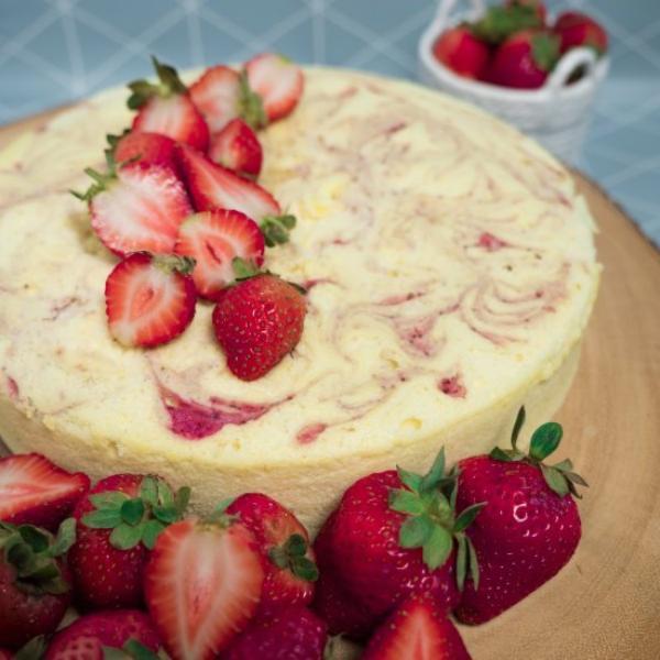 recette cheesecake japonais aux fraises