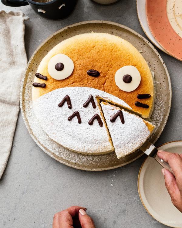 recette cheesecake japonais décoré