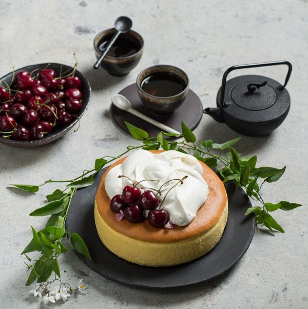 recette cheesecake japonais garniture crème de coco et vanille