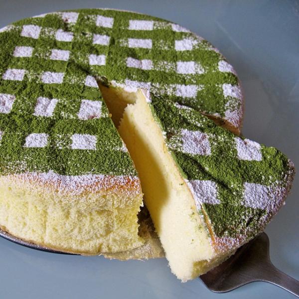 recette cheesecake japonais saupoudré de thé matcha