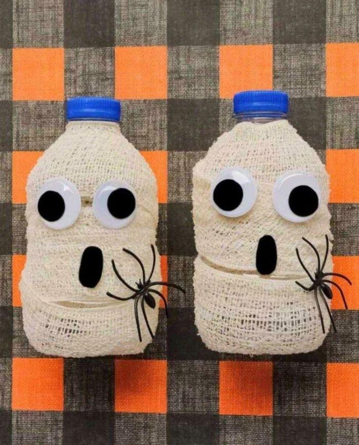 recyclage bouteille plastique déco halloween
