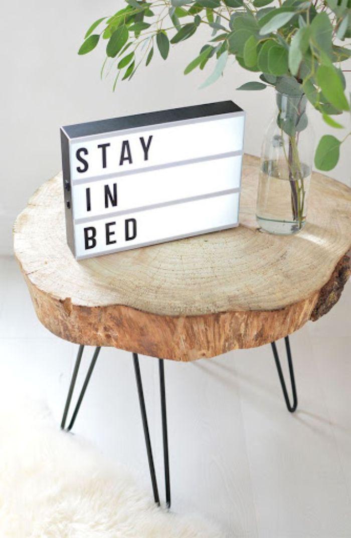table basse diy rondin de bois déco idées inspirantes pour créer une ambiance unique
