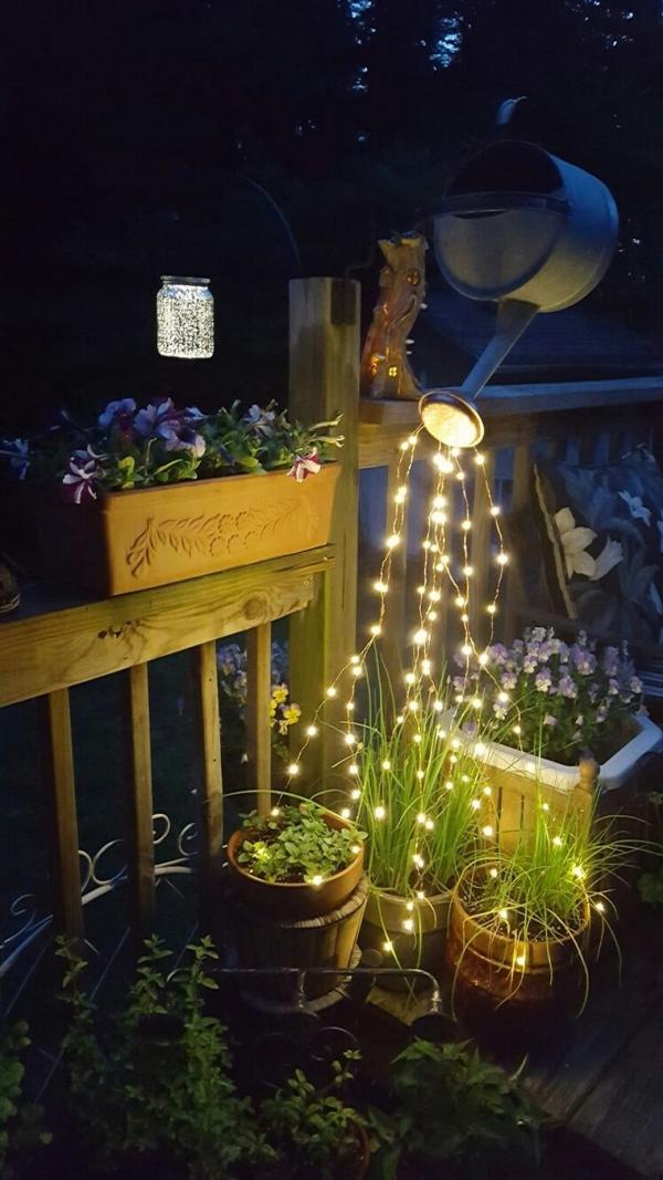 éclairage de jardin DIY arroser de lumière