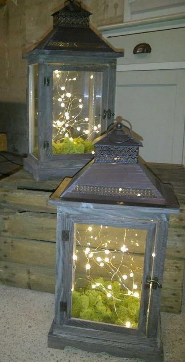 éclairage de jardin DIY deux lanternes