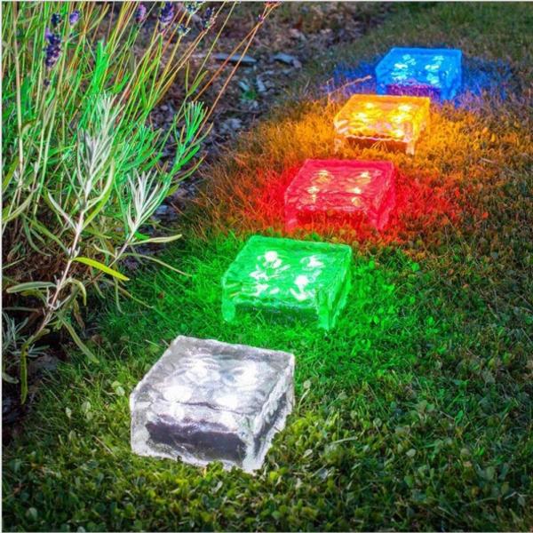 éclairage de jardin DIY feux multicolores