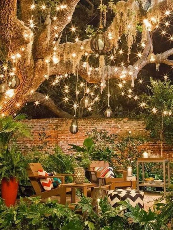 éclairage de jardin DIY fortement illuminé