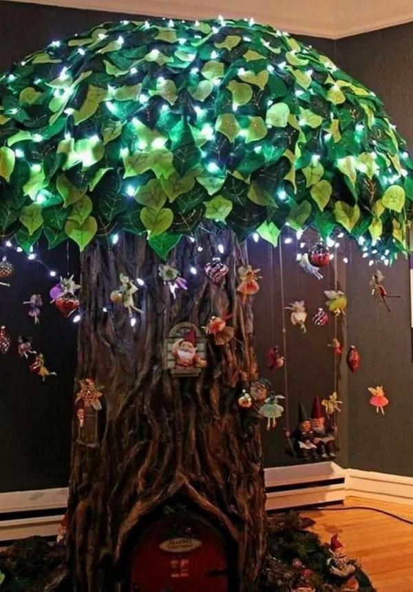 éclairage de jardin DIY un arbre artificiel