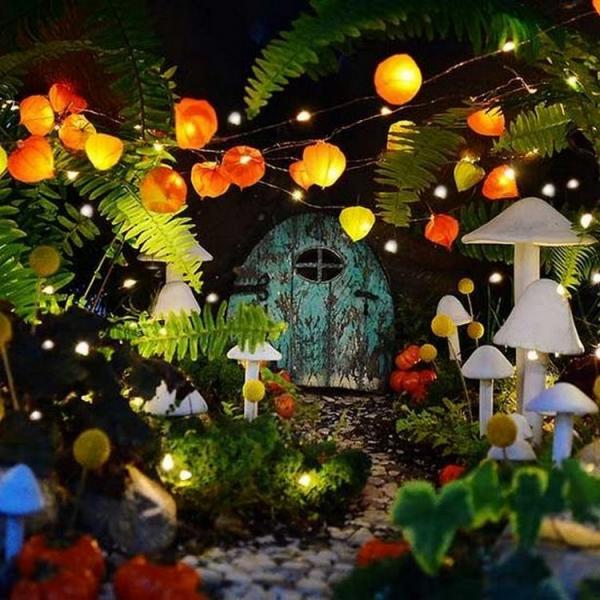 éclairage de jardin DIY un petit coin forestier