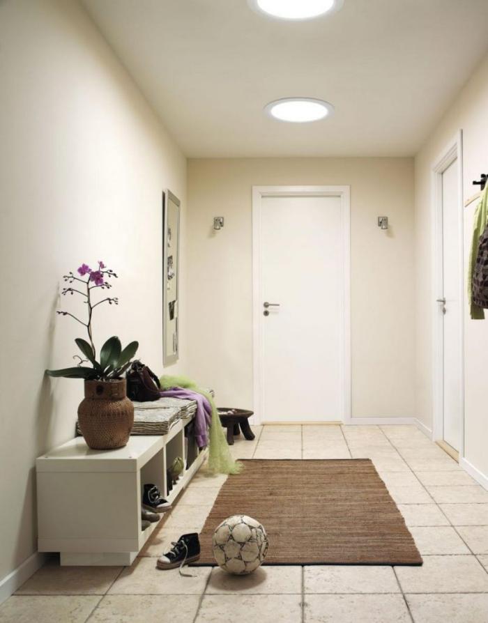 éclairage entrée et couloir deux plafonnières