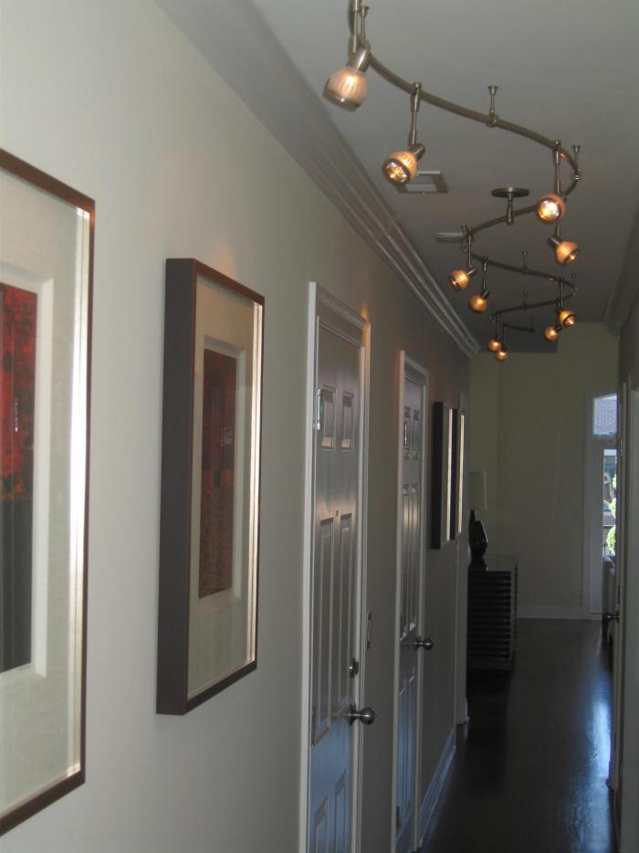 éclairage entrée et couloir petites lampes