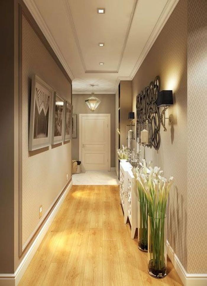 éclairage entrée et couloir tableaux et panneau