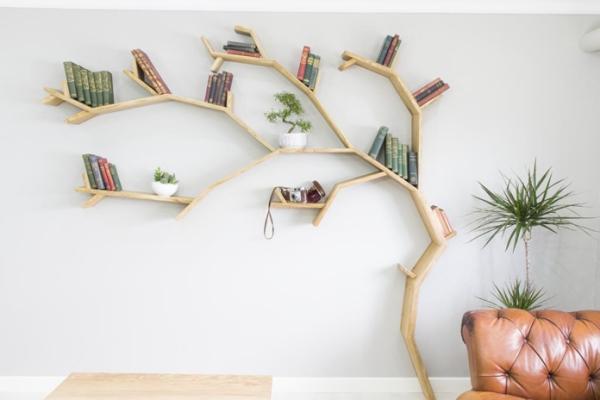 étagère murale décorative arbre du savoir