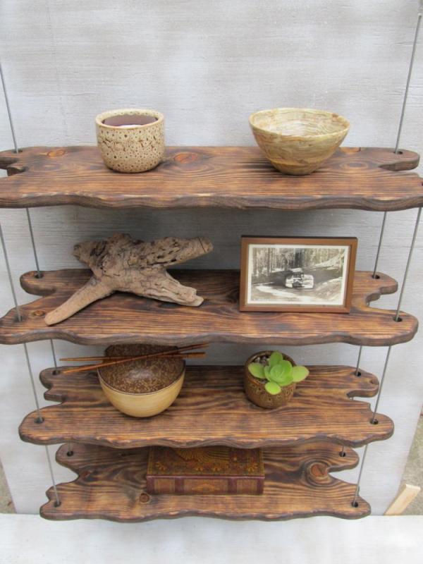 étagère murale décorative du bois récup