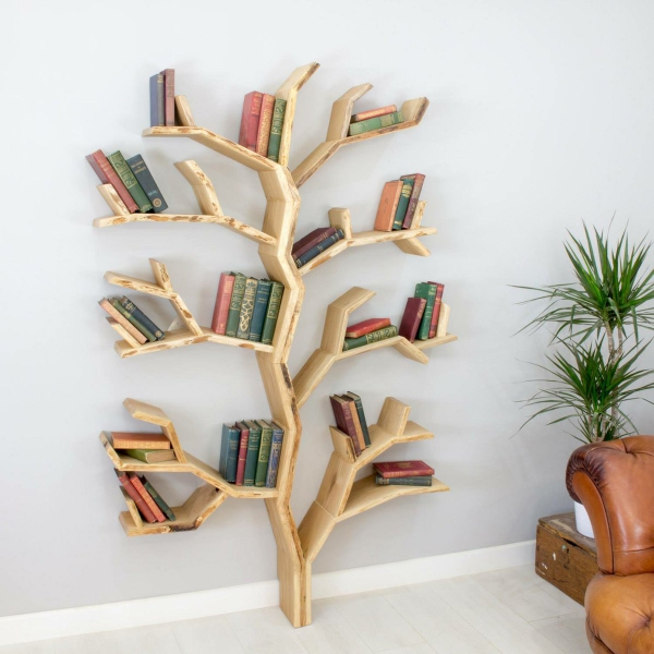 étagère murale décorative en forme de bois