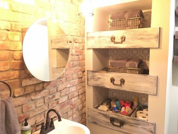étagère murale décorative une salle de bain