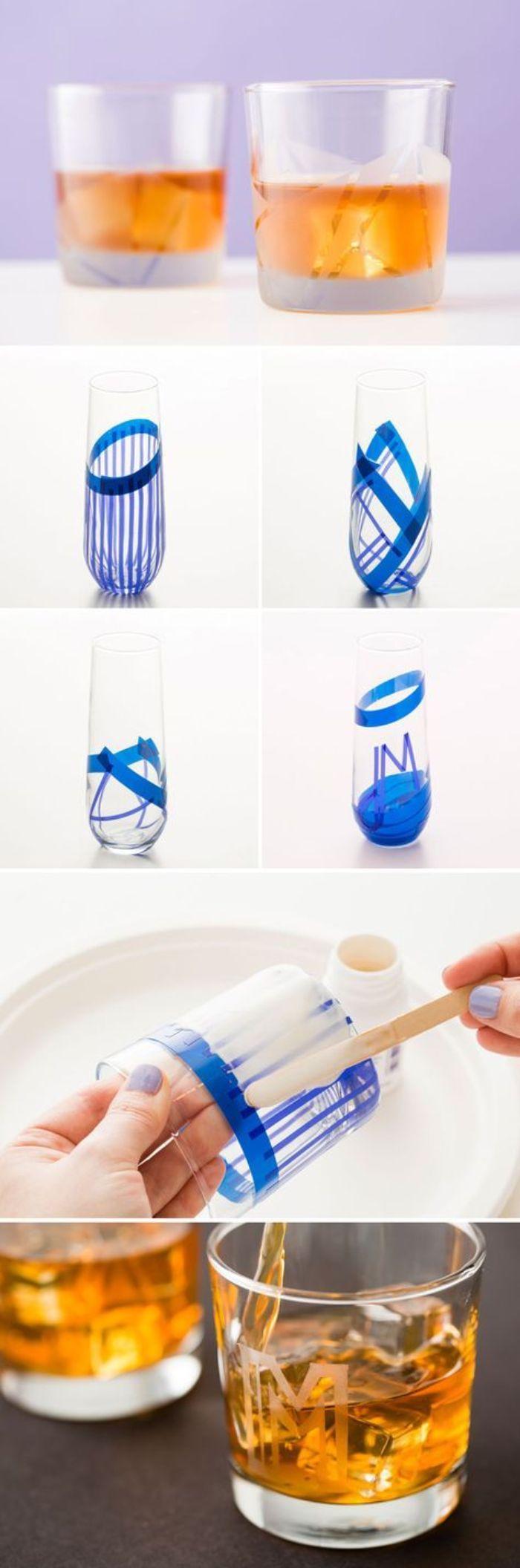 étapes gravure chimique sur verre