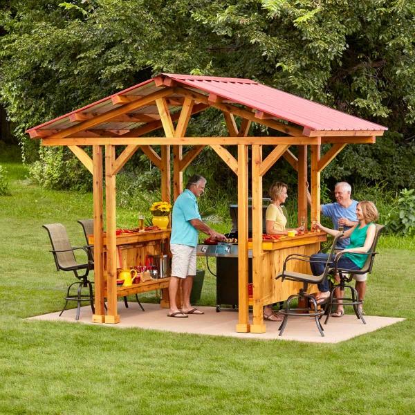 aménager un coin barbecue au milieu du jardin