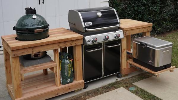 aménager un coin barbecue un équipement en bois