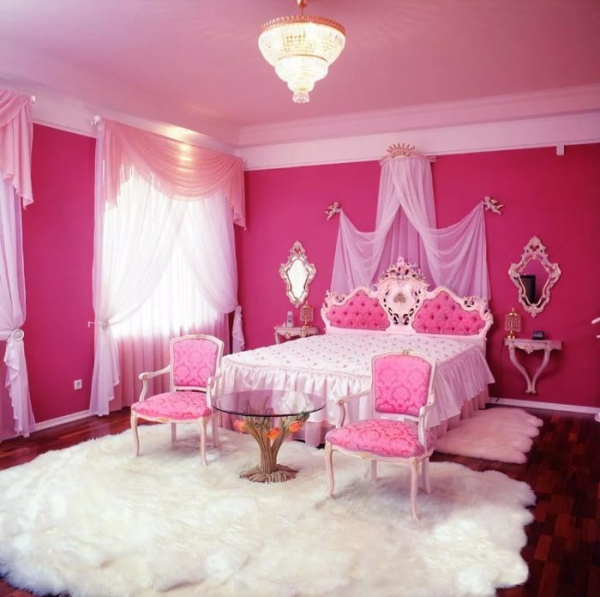 ameublement maison intérieur rose