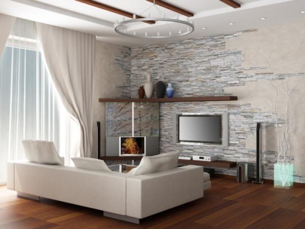 ameublement maison mur en pierre artificielle