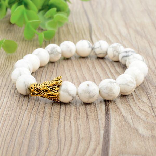 bracelet pierre anti-stress en howlite