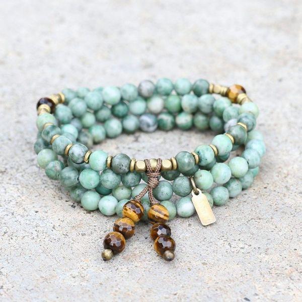 bracelet pierre anti-stress jade et oeil de tigre