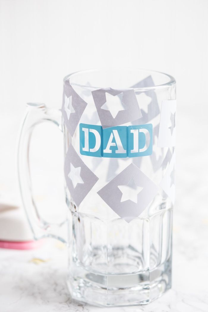 cadeau fête des pères idée déco chope à bière gravure chimique sur verre