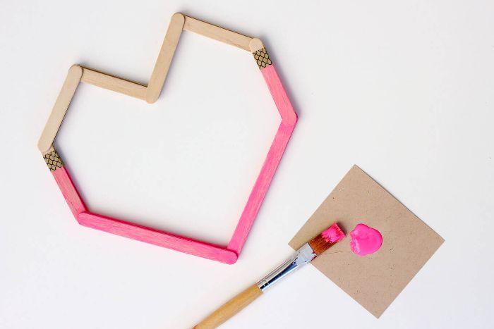 cadeau st valentin bâton de glace en bois